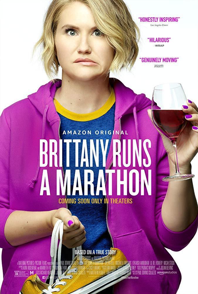 Brittany runs a marathon poster