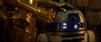 R2-D2 with C-3PO (Anthony Daniels) in STAR WARS: THE RISE OF SKYWALKER